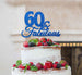 60 & Fabulous Cake Topper 60th Birthday Glitter Card Dark Blue
