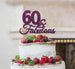60 & Fabulous Cake Topper 60th Birthday Glitter Card Dark Purple