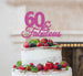 60 & Fabulous Cake Topper 60th Birthday Glitter Card Hot Pink