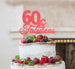 60 & Fabulous Cake Topper 60th Birthday Glitter Card Light Pink