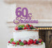60 & Fabulous Cake Topper 60th Birthday Glitter Card Light Purple