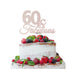 60 & Fabulous Cake Topper 60th Birthday Glitter Card White