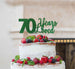 70 Years Loved Cake Topper 70th Birthday Glitter Card Green