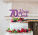 70 Years Loved Cake Topper 70th Birthday Glitter Card Light Purple