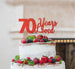 70 Years Loved Cake Topper 70th Birthday Glitter Card Red