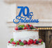 70 & Fabulous Cake Topper 70th Birthday Glitter Card Dark Blue