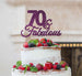 70 & Fabulous Cake Topper 70th Birthday Glitter Card Dark Purple