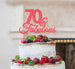 70 & Fabulous Cake Topper 70th Birthday Glitter Card Light Pink