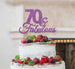 70 & Fabulous Cake Topper 70th Birthday Glitter Card Light Purple