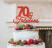 70 & Fabulous Cake Topper 70th Birthday Glitter Card Red