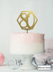 Hexagon 80th Birthday Cake Topper Premium 3mm Acrylic Mirror Gold