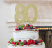 80th Birthday Cake Topper Glitter Card Gold