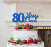 80 Years Loved Cake Topper 80th Birthday Glitter Card Dark Blue