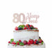 80 Years Loved Cake Topper 80th Birthday Glitter Card White