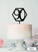 Hexagon 90th Birthday Cake Topper Premium 3mm Acrylic Black