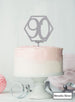 Hexagon 90th Birthday Cake Topper Premium 3mm Acrylic Metallic Silver