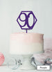 Hexagon 90th Birthday Cake Topper Premium 3mm Acrylic Purple
