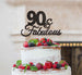 90 & Fabulous Cake Topper 90th Birthday Glitter Card Black