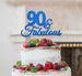 90 & Fabulous Cake Topper 90th Birthday Glitter Card Dark Blue