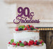 90 & Fabulous Cake Topper 90th Birthday Glitter Card Dark Purple