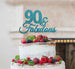 90 & Fabulous Cake Topper 90th Birthday Glitter Card Light Blue