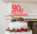90 & Fabulous Cake Topper 90th Birthday Glitter Card Light Pink