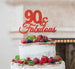 90 & Fabulous Cake Topper 90th Birthday Glitter Card Red