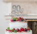 90 & Fabulous Cake Topper 90th Birthday Glitter Card Silver