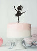 Ballerina Dancing Birthday Cake Topper Glitter Card Black