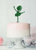 Ballerina Dancing Birthday Cake Topper Glitter Card Green