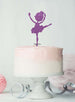 Ballerina Dancing Birthday Cake Topper Glitter Card Light Purple
