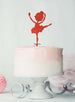 Ballerina Dancing Birthday Cake Topper Glitter Card Red