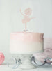 Ballerina Dancing Birthday Cake Topper Glitter Card White