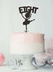 Ballerina Eight 8th Birthday Cake Topper Glitter Card Black