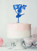Ballerina Eight 8th Birthday Cake Topper Glitter Card Dark Blue
