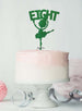 Ballerina Eight 8th Birthday Cake Topper Glitter Card Green