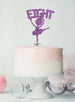 Ballerina Eight 8th Birthday Cake Topper Glitter Card Light Purple