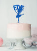 Ballerina Five 5th Birthday Cake Topper Glitter Card Dark Blue