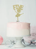 Ballerina Five 5th Birthday Cake Topper Glitter Card Gold