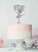 Ballerina Five 5th Birthday Cake Topper Glitter Card Silver