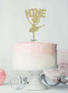 Ballerina Nine 9th Birthday Cake Topper Glitter Card Gold