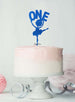 Ballerina One 1st Birthday Cake Topper Glitter Card Dark Blue