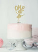 Ballerina One 1st Birthday Cake Topper Glitter Card Gold