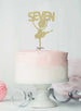 Ballerina Seven 7th Birthday Cake Topper Glitter Card Gold