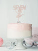 Ballerina Seven 7th Birthday Cake Topper Glitter Card White