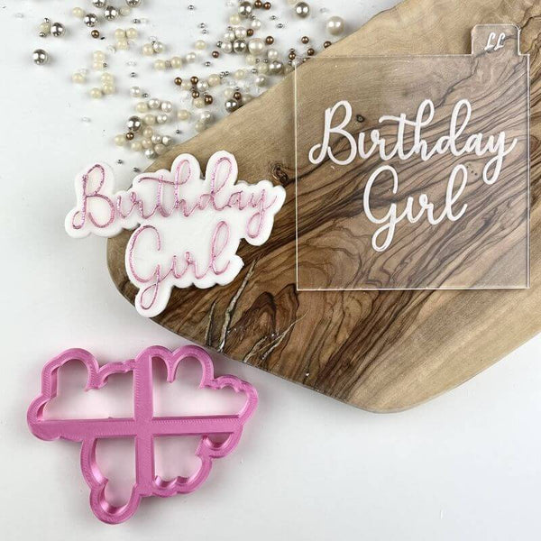 Birthday Girl Cookie Cutter and Embosser