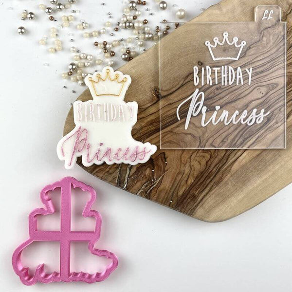 Birthday Princess Cookie Cutter and Embosser
