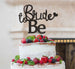 Bride to Be with Heart Hen Party Cake Topper Glitter Card Black