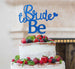 Bride to Be with Heart Hen Party Cake Topper Glitter Card Dark Blue