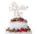 Bride to Be with Heart Hen Party Cake Topper Glitter Card White